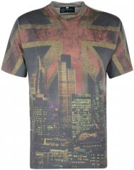 Kam Jeans Union Jack T-shirt Grey