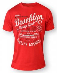 D555 NEAL Brooklyn Crew Neck T-Shirt Red