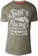 D555 CORTEZ Speed Racing T-Shirt Khaki