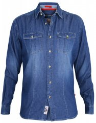 D555 Adcock Long Sleeve Vintage Denim Shirt