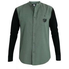 D555 Atkins Grandad Shirt with Jersey Sleeves