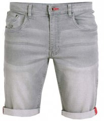 D555 Griffin Denim Shorts Grey