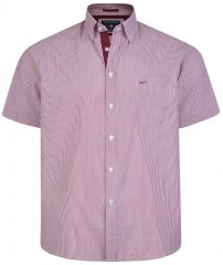 Kam Jeans 6164 Short Sleeve Shirt Burgundy