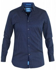 D555 Lavar Long Sleeve Diamond Printed Shirt