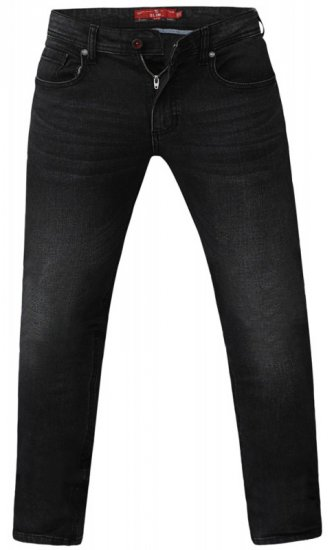 D555 Benson Tapered Fit Stretch Jeans Stonewash - Jeans og Bukser - Store Bukser og Store Jeans