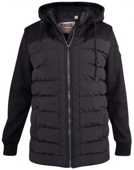 D555 Hampshire Hooded Quilted Jacket Black - Jakker & Regntøy - Store jakker - 2XL-8XL