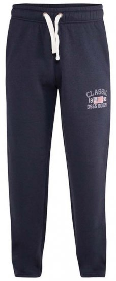 D555 Mayson Embroidered And Applique Open Hem Jogger With Drawcord Navy - Sweatbukser og Sweatshorts - Sweatbukser og Sweatshorts 2XL-8XL