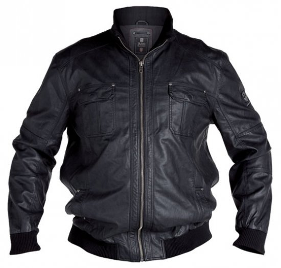 D555 Faux Leather Jacket - Jakker - Store jakker - 2XL-8XL