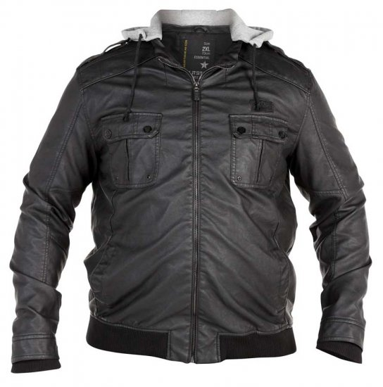 Split Star Faux Leather Jacket - Jakker - Store jakker - 2XL-8XL