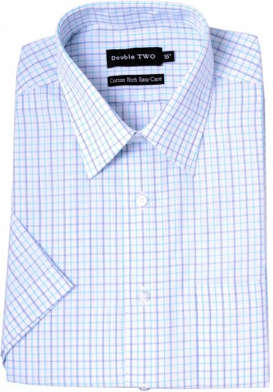 Double TWO Formal Shirt Aqua - Skjorter - Store skjorter - 2XL-8XL