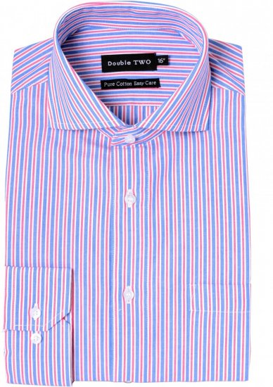 Double TWO Formal Shirt 3583 Red L/S - Skjorter - Store skjorter - 2XL-8XL