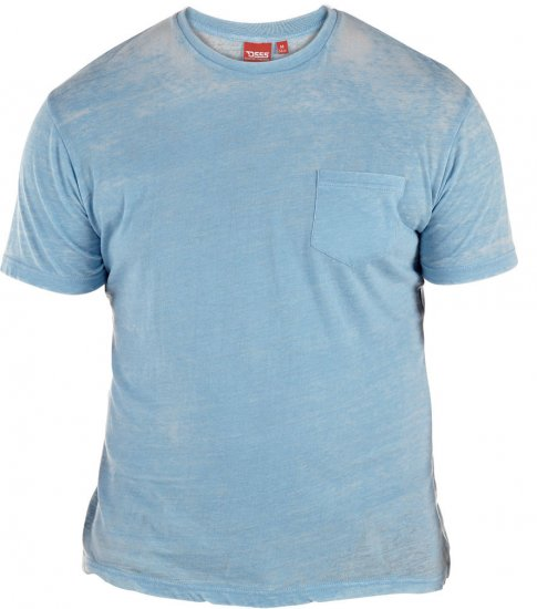 D555 Mavi T-shirt Blue with Pocket - T-skjorter - Store T-skjorter - 2XL-8XL