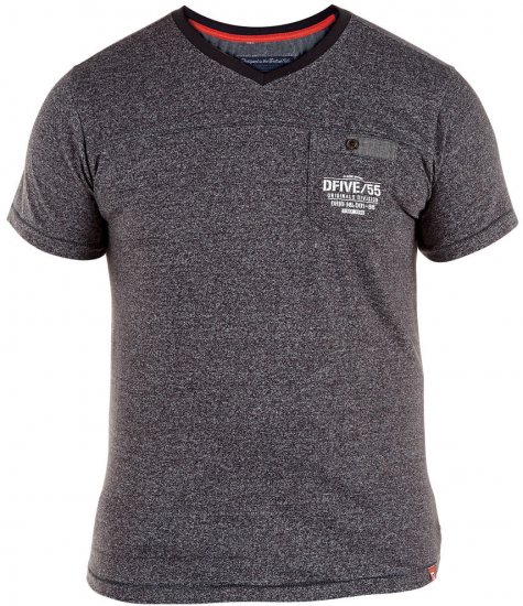D555 Keith T-shirt Grey with pocket - T-skjorter - Store T-skjorter - 2XL-8XL