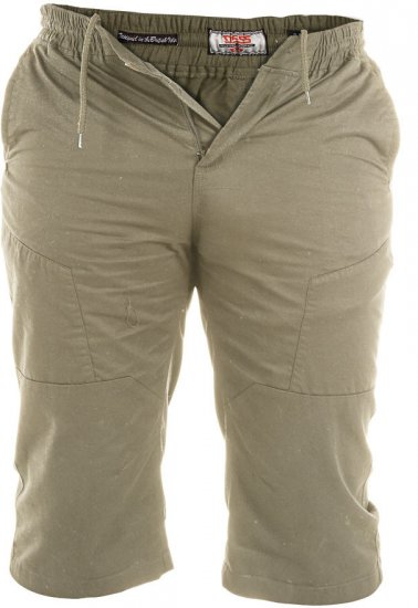 D555 Jefferson Long Length Cotton Short Khaki - Shorts - Store shorts - W40-W60