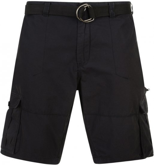 Kam Jeans Belted Cargo Shorts Black - Shorts - Store shorts - W40-W60
