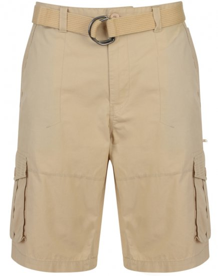 Kam Jeans Belted Cargo Shorts Stone - Shorts - Store shorts - W40-W60