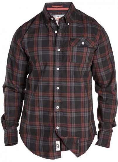 D555 Hubert One Pocket Check Shirt - Skjorter - Store skjorter - 2XL-8XL