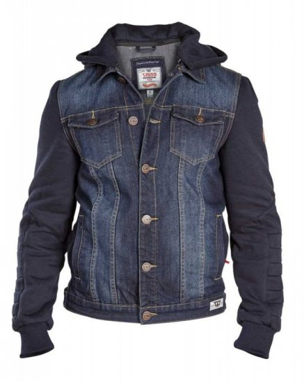 D555 CURTIS Denim Jacket With Detachable Hood - Jakker - Store jakker - 2XL-8XL