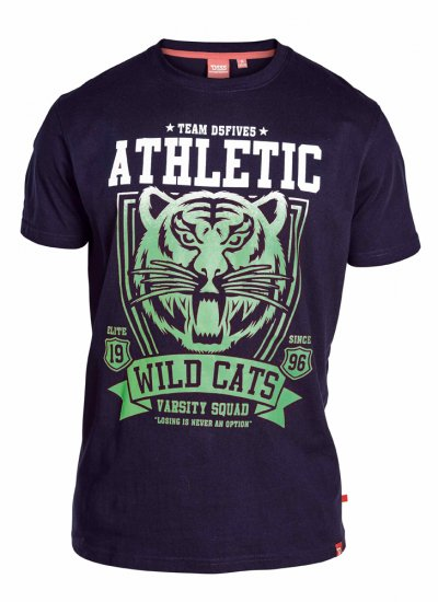 "D555 STACY ""Wild Cats"" T-Shirt Navy - T-skjorter - Store T-skjorter - 2XL-8XL"