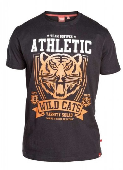"D555 STACY ""Wild Cats"" T-Shirt Black - T-skjorter - Store T-skjorter - 2XL-8XL"