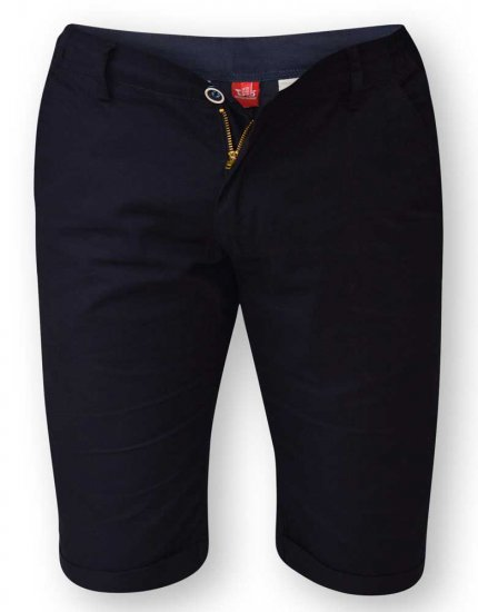 D555 PANAMA Chino Short With Side Elasticated Waist Navy - Shorts - Store shorts - W40-W60
