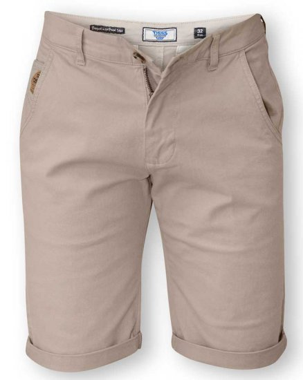 D555 COLTEN Stretch Cotton Chino Short Beige - Shorts - Store shorts - W40-W60