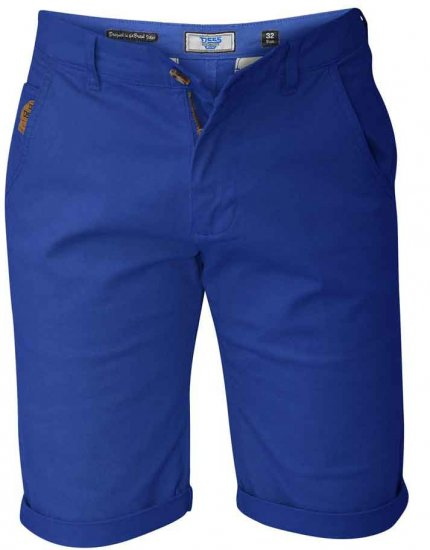 D555 COLTEN Stretch Cotton Chino Shorts Blue - Shorts - Store shorts - W40-W60