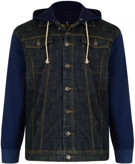 Kam Jeans Jose Denim Jacket With Detachable Hood - Jakker - Store jakker - 2XL-8XL
