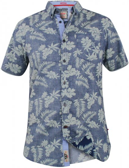 D555 Oswald Short Sleeve Hawaii Shirt - Skjorter - Store skjorter - 2XL-8XL