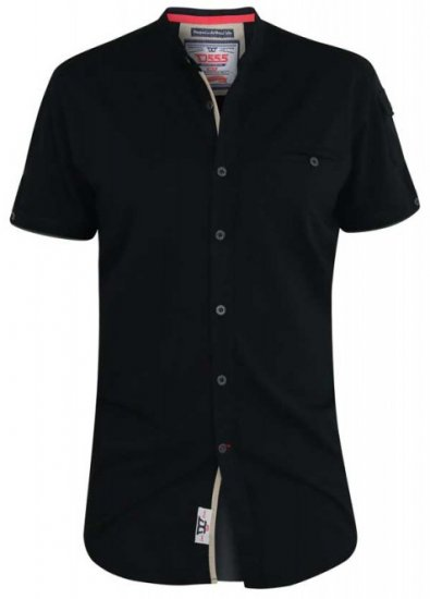 D555 Archer Collarless Shirt Black - Skjorter - Store skjorter - 2XL-8XL