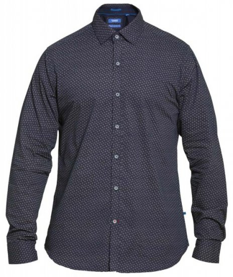 D555 Babworth Long Sleeve Shirt Navy - Skjorter - Store skjorter - 2XL-8XL