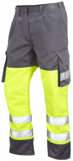 Leo Bideford Cargo Pants Hi-Vis Yellow/ Grey - Varselbukser - Varselbukser W40-W60