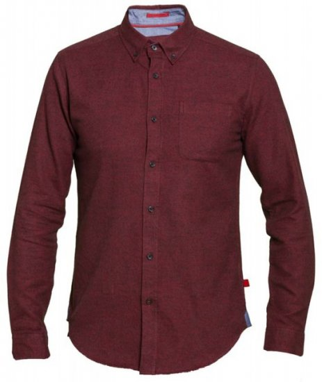 D555 Dawson Textured Shirt Dark Red - Skjorter - Store skjorter - 2XL-8XL