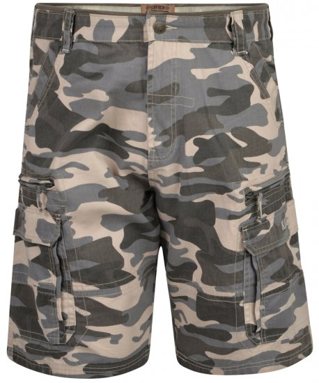Kam Jeans 329 Short Charcoal Camo - Shorts - Store shorts - W40-W60