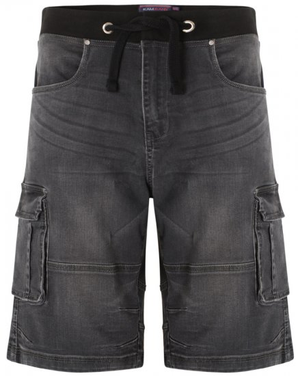 Kam Jeans Dito Denim Shorts Charcoal - Shorts - Store shorts - W40-W60