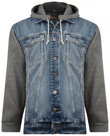 Kam Jeans Miguel Denim Jacket with Jersey Sleeves - Jakker & Regntøy - Store jakker - 2XL-8XL