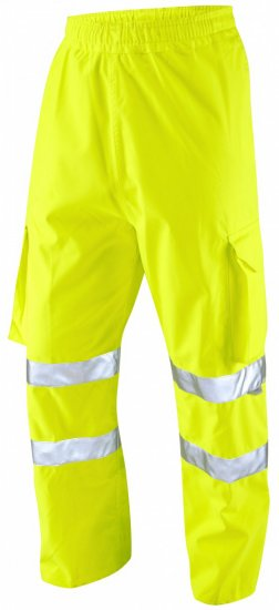 Leo Instow Breathable Executive Cargo Rain pants Hi-Vis Yellow - Varselbukser - Varselbukser W40-W60