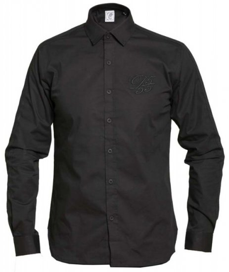 D555 Michael Couture Stretch Shirt Black - Skjorter - Store skjorter - 2XL-8XL