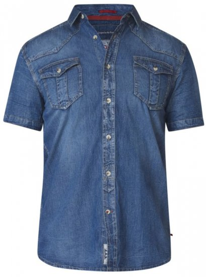 D555 Mike Denim Shirt - Skjorter - Store skjorter - 2XL-8XL