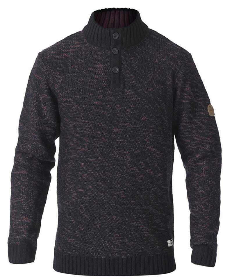 6924ede6 D555 MARSDEN Neck Sweater Black/Red - Gensere og Hettegensere - Store  hettegensere - 2XL ...