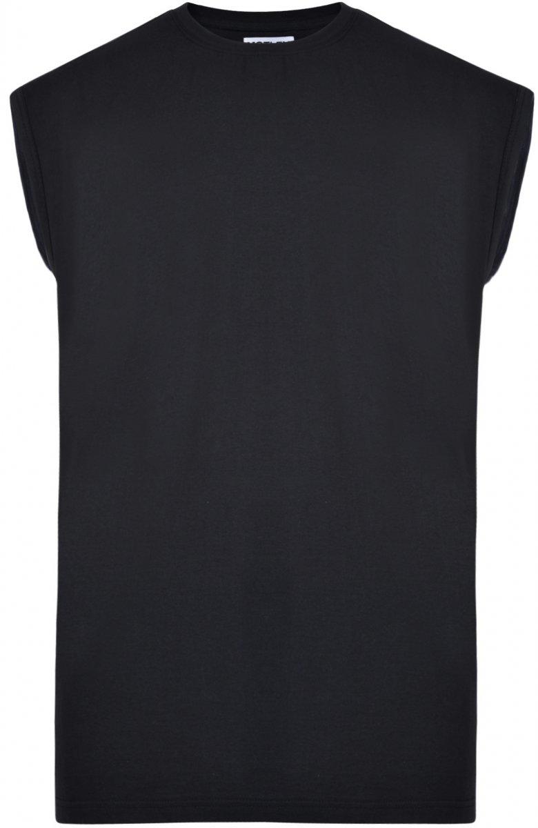 f10b2562 Motley Denim Ermeløs T-skjorte Svart i store størrelser - MotleyDenim.no