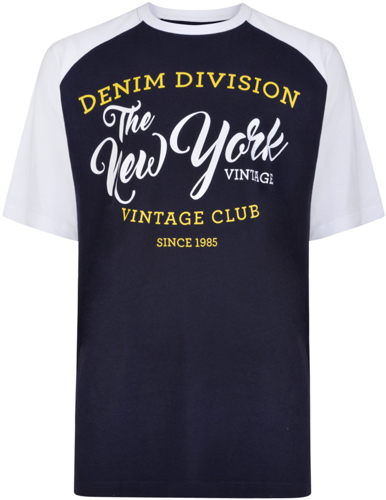 c92071f8 Kam Jeans 5210 Denim Division T-shirt Navy - T-skjorter - Store T